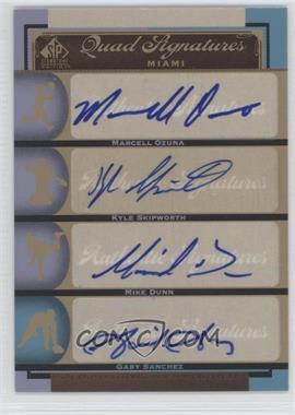 2012 SP Signature Edition - [Base] #MIA11 - Marcell Ozuna, Kyle Skipworth, Michael Dunn, Gaby Sanchez