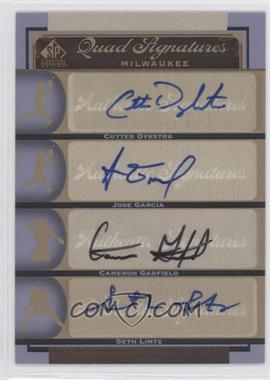 2012 SP Signature Edition - [Base] #MIL16 - Cutter Dykstra, Cameron Garfield, Jose Garcia, Seth Lintz