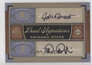 2012 SP Signature Edition - Dual Signatures #AZST1 - Jake Barrett, Andrew Aplin