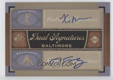 2012 SP Signature Edition - Dual Signatures #BAL15 - Xavier Avery, Ryan Flaherty