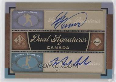 2012 SP Signature Edition - Dual Signatures #CAN1 - Brett Lawrie, Michael Saunders