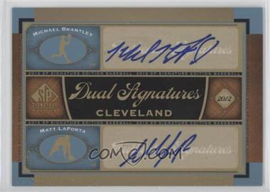 2012 SP Signature Edition - Dual Signatures #CLV12 - Michael Brantley, Matt LaPorta