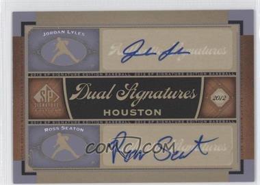 2012 SP Signature Edition - Dual Signatures #HOU13 - Jordan Lyles, Ross Seaton