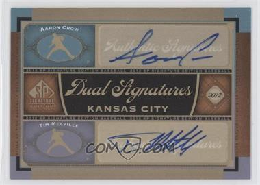 2012 SP Signature Edition - Dual Signatures #KC16 - Aaron Crow, Tim Melville