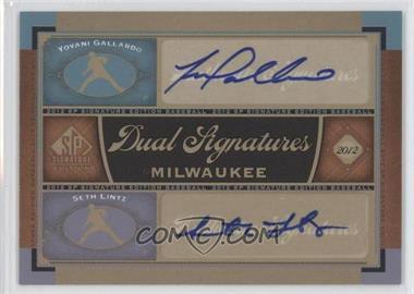 2012 SP Signature Edition - Dual Signatures #MIL13 - Yovani Gallardo, Seth Lintz