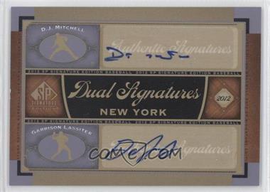 2012 SP Signature Edition - Dual Signatures #NYY23 - D.J. Mitchell, Garrison Lassiter