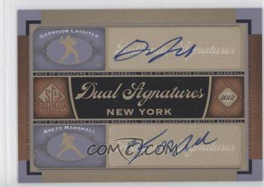 2012 SP Signature Edition - Dual Signatures #NYY24 - Garrison Lassiter, Brett Marshall