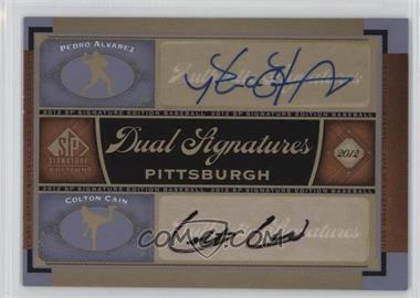 2012 SP Signature Edition - Dual Signatures #PIT12 - Pedro Alvarez, Colton Cain