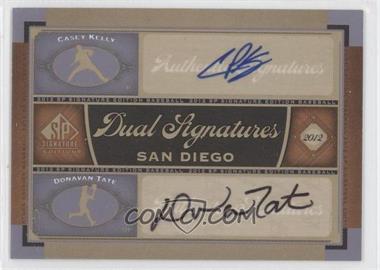 2012 SP Signature Edition - Dual Signatures #SD11 - Casey Kelly, Donavan Tate