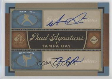 2012 SP Signature Edition - Dual Signatures #TB16 - Wade Davis, David Price