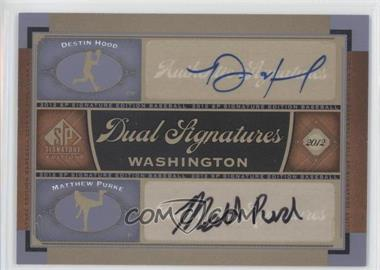2012 SP Signature Edition - Dual Signatures #WAS12 - Matt Purke, Destin Hood