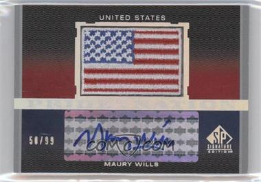 2012 SP Signature Edition - Pride of a Nation Autographs #PN-MW - Maury Wills /99