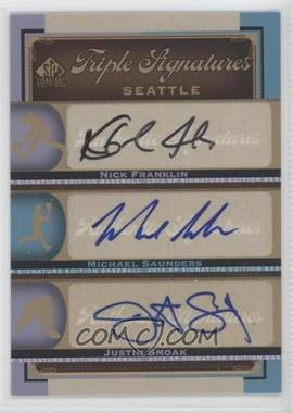 2012 SP Signature Edition - Triple Signatures #SEA14 - Nick Franklin, Michael Saunders, Justin Smoak
