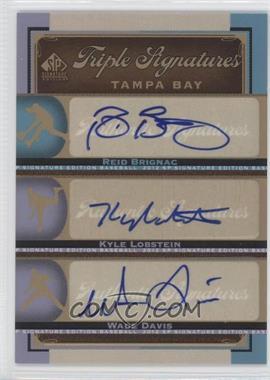 2012 SP Signature Edition - Triple Signatures #TB17 - Reid Brignac, Wade Davis, Kyle Lobstein