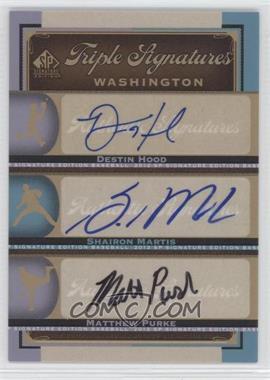 2012 SP Signature Edition - Triple Signatures #WAS13 - Destin Hood, Shairon Martis, Matthew Purke