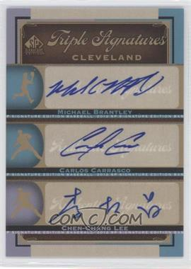 2012 SP Signature Edition [???] #CLV13 - Michael Brantley, Carlos Carrasco, Christopher Leroux