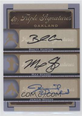 2012 SP Signature Edition [???] #OAK18 - Brian Humphries, Matt Stairs, Jemile Weeks, Brett Hunter, Max Stassi