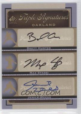 2012 SP Signature Edition [???] #OAK18 - Brian Humphries, Matt Stairs, Jemile Weeks, Brett Hunter