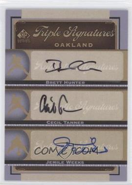 2012 SP Signature Edition [???] #OAK19 - Brian Humphries, Jemile Weeks, Brett Hunter