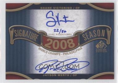2012 SP Signature Edition [???] #SS2-1 - Shane Victorino, Jayson Werth /50