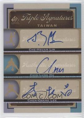 2012 SP Signature Edition [???] #TAI1 - Che-Hsuan Lin, Chin-Lung Hu, Chen-Chang Lee