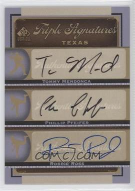 2012 SP Signature Edition [???] #TEX12 - Tommy Medica, Phillip Pfeifer, Tommy Mendonca, Robbie Ross