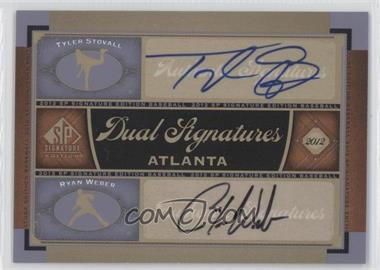 2012 SP Signature Edition Dual Signatures #ATL8 - Ryan Webb, Tyler Stovall, Ryan Weber