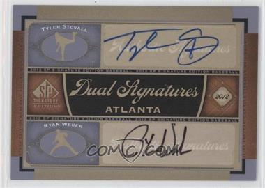 2012 SP Signature Edition Dual Signatures #ATL8 - Tyler Stovall, Ryan Weber