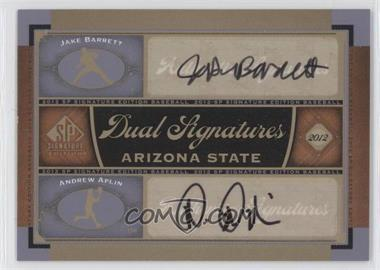 2012 SP Signature Edition Dual Signatures #AZST1 - Jake Barrett, Andrew Aplin
