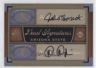 2012 SP Signature Edition Dual Signatures #AZST1 - Jake Barrett, Andrew Aplin