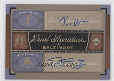 2012 SP Signature Edition Dual Signatures #BAL15 - Xavier Avery, Ryan Flaherty