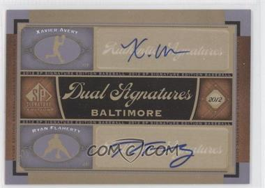 2012 SP Signature Edition Dual Signatures #BAL15 - Xavier Avery, Ryan Flaherty