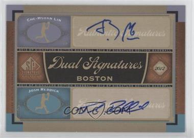 2012 SP Signature Edition Dual Signatures #BOS31 - Che-Hsuan Lin, Josh Reddick