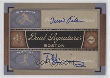 2012 SP Signature Edition Dual Signatures #BOS32 - Derrick Gibson, Pete Hissey