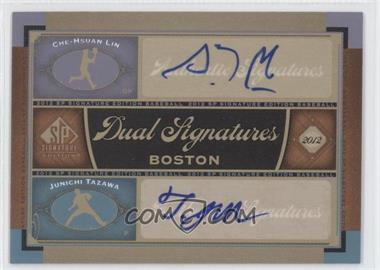 2012 SP Signature Edition Dual Signatures #BOS34 - Che-Hsuan Lin, Junichi Tazawa