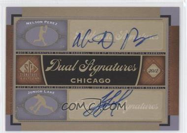 2012 SP Signature Edition Dual Signatures #CHC13 - Nelson Perez, Junior Lake