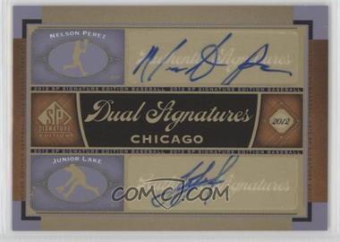 2012 SP Signature Edition Dual Signatures #CHC13 - Nelson Perez, Junior Lake