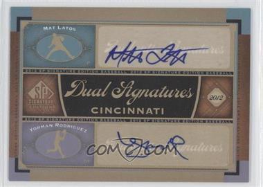 2012 SP Signature Edition Dual Signatures #CIN10 - Mat Latos, Yorman Rodriguez