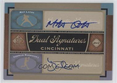 2012 SP Signature Edition Dual Signatures #CIN10 - Mat Latos, Yorman Rodriguez