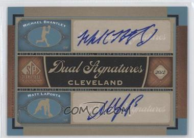 2012 SP Signature Edition Dual Signatures #CLV12 - Michael Brantley, Matt LaPorta