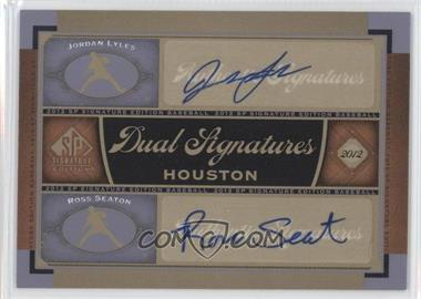 2012 SP Signature Edition Dual Signatures #HOU13 - Jordan Lyles, Ross Seaton
