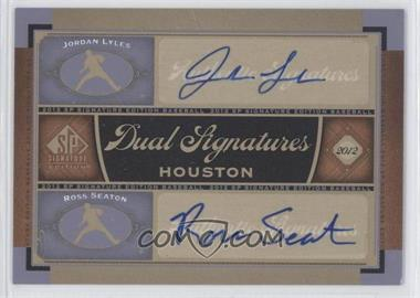 2012 SP Signature Edition Dual Signatures #HOU13 - Jordan Lyles, Ross Seaton