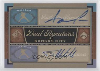 2012 SP Signature Edition Dual Signatures #KC16 - Aaron Crow, Tim Melville
