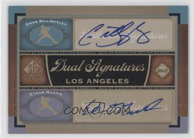 2012 SP Signature Edition Dual Signatures #LA15 - Chad Billingsley, Ethan Martin