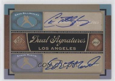 2012 SP Signature Edition Dual Signatures #LA15 - Chad Billingsley, Ethan Martin