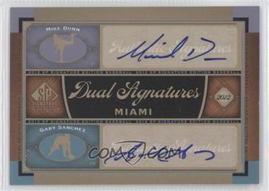 2012 SP Signature Edition Dual Signatures #MIA10 - Mike Dunn, Gaby Sanchez