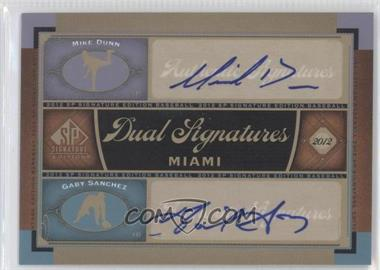 2012 SP Signature Edition Dual Signatures #MIA10 - Mike Dunn, Gaby Sanchez