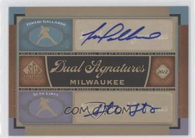 2012 SP Signature Edition Dual Signatures #MIL13 - Yovani Gallardo, Seth Lintz