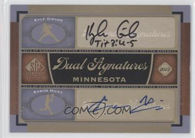 2012 SP Signature Edition Dual Signatures #MIN13 - Kyle Gibson, Aaron Hicks