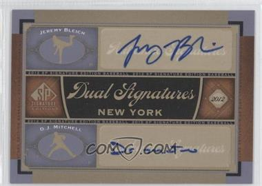 2012 SP Signature Edition Dual Signatures #NYY22 - Jeremy Bleich, D. J. Mitchell